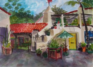 art galleries in Spanish village
